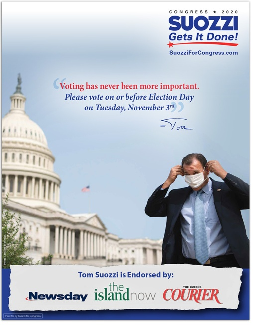 2021 REED Winner – Best Print Ad for Political Campaign (Democratic)